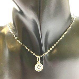 Pisana Sanctum Cross Charm & WP Sterling Necklace
